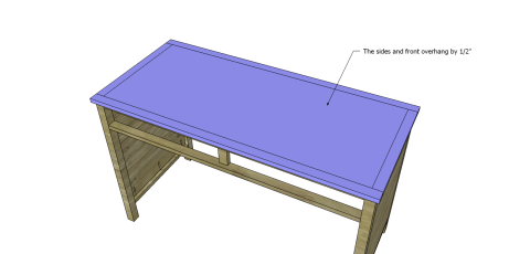 Attach the Top for Free DIY Furniture Plans // How to Build a Hughes Desk
