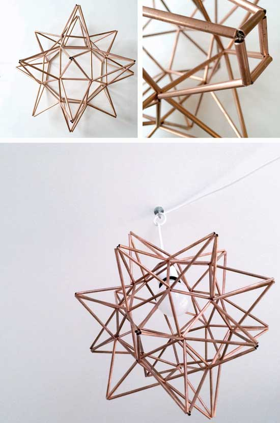 I Can Make This! DIY Copper Moravian Star Pendant Light from The Design Confidential via @thedesconf