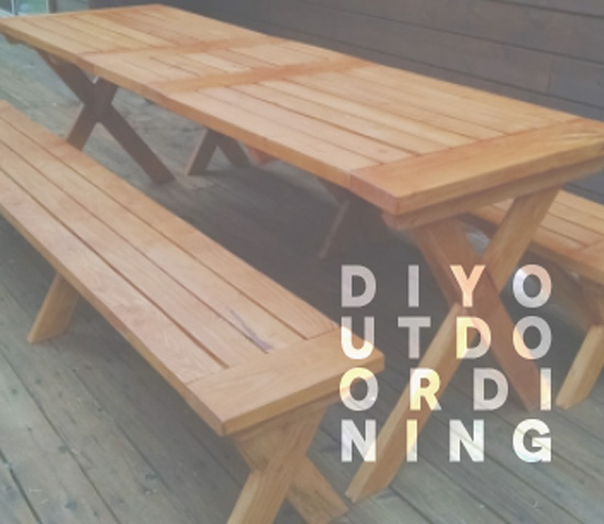Beautiful The Design Confidential us Entertaining In Style Top Most Popular DIY Outdoor Dining Tables