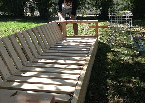 Building the Leg in a Real Reader Build and Showcase for a DIY Outdoor Sofa Build