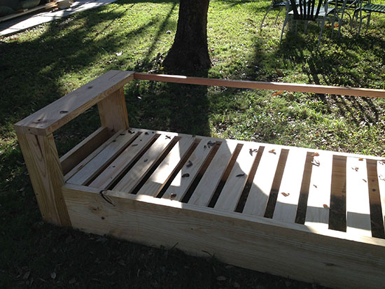 Alternate View of Real Reader Build and Showcase for a DIY Outdoor Sofa Build