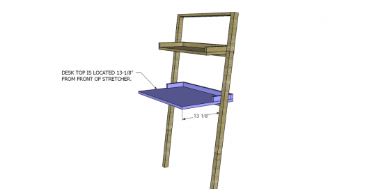 You Can Build This! Easy DIY Furniture Plans from The Design Confidential with Complete Instructions on How to Build a Little Sloan Leaning Desk via @thedesconf