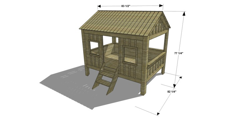 You Can Build This! Easy DIY Furniture Plans from The Design Confidential with Complete Instructions on How to Build a Full Sized Cabin Bed Loft via @thedesconf