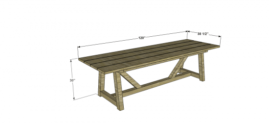 The Design Confidential Free DIY Furniture Plans to Build an Outdoor Provence Beam Dining Table with 4x4s