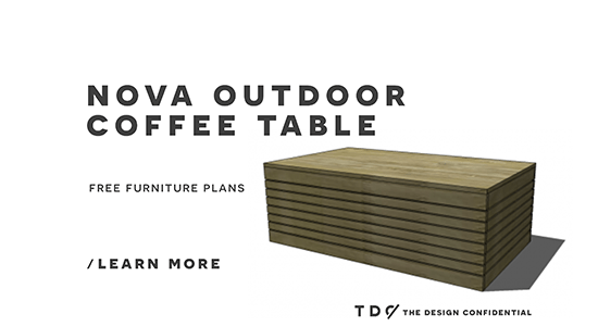DIY Outdoor Furniture Coffee Table Plans
