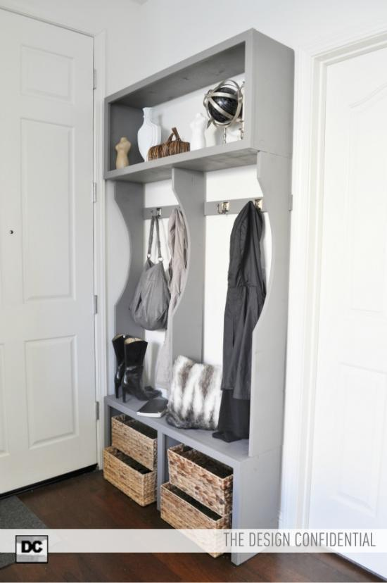 Mudroom Storage Woodworking Plans : Free woodworking plans to make an entry way locker system