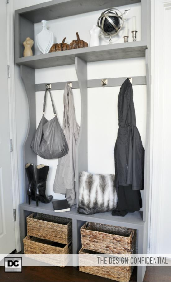 The Design Confidential Free Woodworking Plans to Make an Entry Way Locker System
