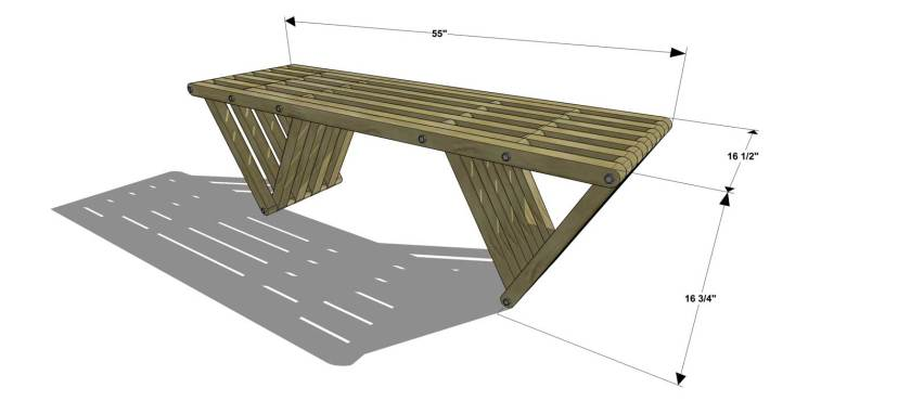 You Can Build This! Easy DIY Furniture Plans from The Design Confidential with Complete Instructions on How to Build an Equilateral Bench via @thedesconf
