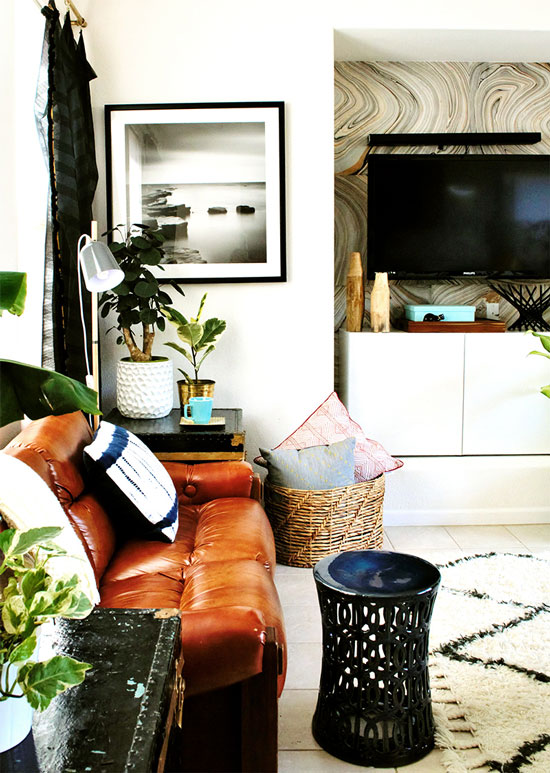 The Design Confidential Home Tour // My Vintage Vixen Family Room Reveal