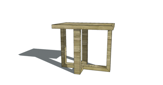 Free Woodworking Plans To Build A Cross Frame Side Table The - How to build a side table