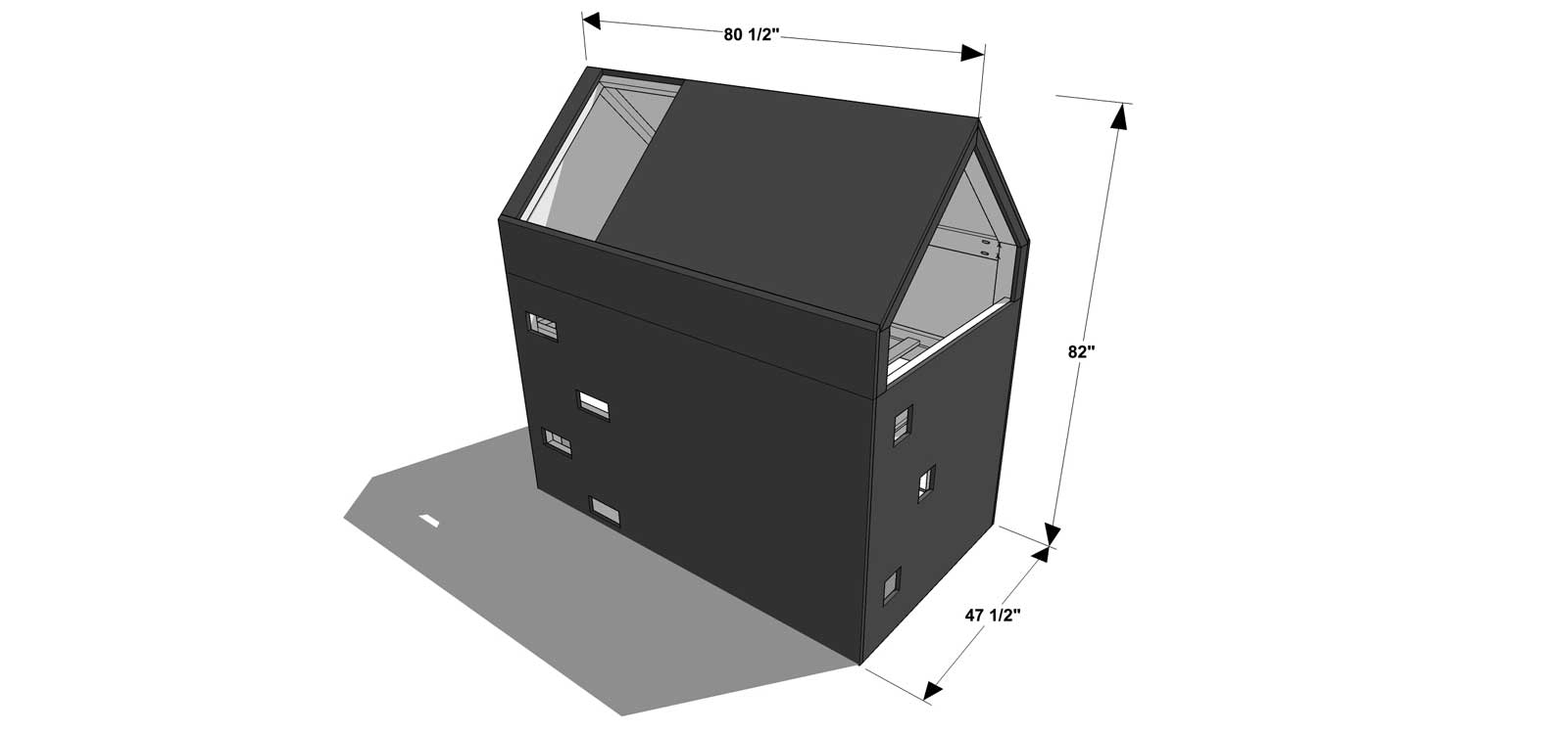 Perfect The Design Confidential DIY Furniture Plans for How to Build a Modern Lake House Bunk Bed