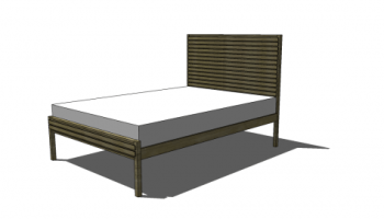 Free DIY Furniture Plans to Build a Full Sized Stria Bed