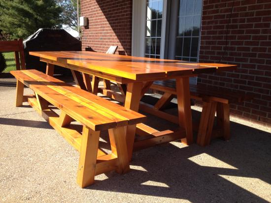 Unique Reader Showcase Bob us Provence x table with benches