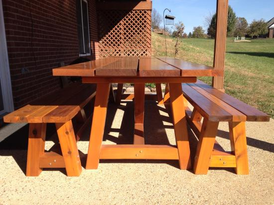 Reader Showcase: Bob's Provence 4x4 table with benches