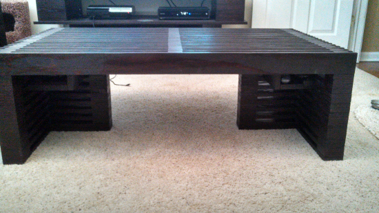 Reader Showcase: Dorner's Reclaimed Timber Slat Coffee Table