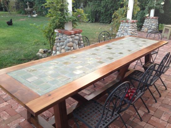 The Design Confidential Reader Showcase: Tile Top Provence Dining Table