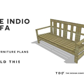 You Can Build This! The Design Confidential's Easy DIY Furniture Plans to Build an Outdoor Indio Sofa via @thedesconf