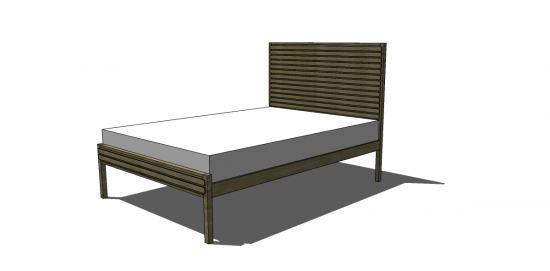 Beautiful Free DIY Furniture Plans to Build a West Elm Inspired Queen Stria Bed