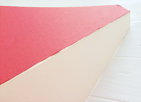 Fix Seams and Trim Overhang for The Design Confidential DIY Over-Sized Geometric Lamp Project Using Mat Board