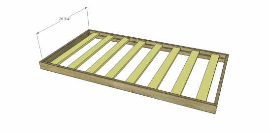 Por Cut The Pieces For Mattress Slat Supports Attach To Inside Of Frame