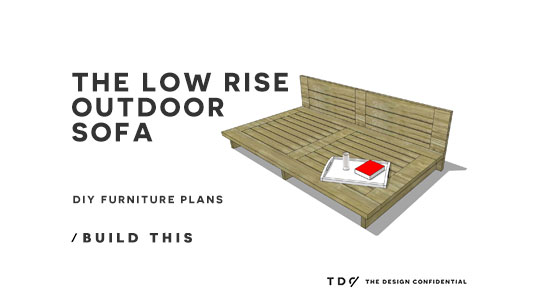 Free Diy Furniture Plans How To Build A Low Rise Outdoor Sofa