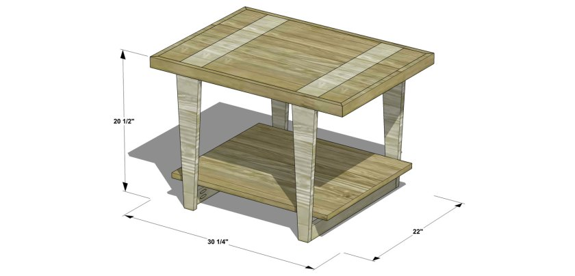 Dimensions for The Design Confidential Free DIY Furniture Plans How to Build a Mid Century Modern Side Table