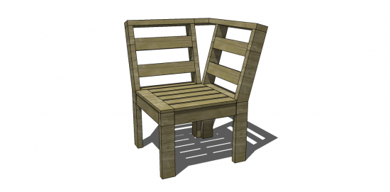 Free Diy Furniture Plans To Build An Outdoor Corner Unit