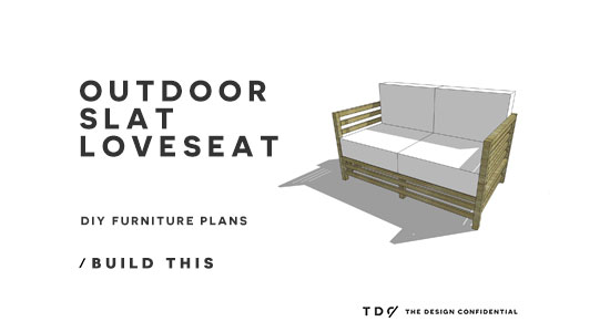 You Can Build This! The Design Confidential DIY Furniture Plans // How to Build an Outdoor Slatted Loveseat