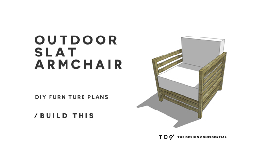You Can Build This! The Design Confidential DIY Furniture Plans // How to Build an Outdoor Slatted Armchair