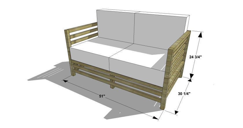 You Can Build This! Easy DIY Plans from The Design Confidential Free DIY Furniture Plans to Build an Outdoor Slatted Loveseat via @thedesconf