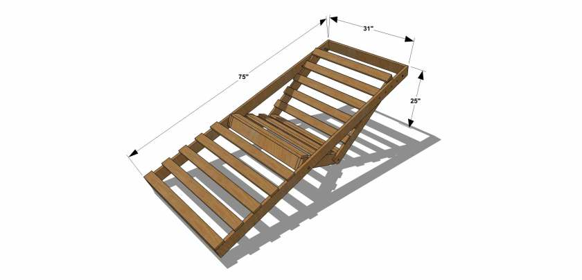 You Can Build This! The Design Confidential Free DIY Furniture Plans // How to Build an Indoor Outdoor Single Futon Chaise Lounge via @TheDesConf