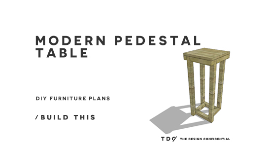 You Can Build This! Easy DIY Plans from The Design Confidential with Complete Instructions on How to Build a Modern Pedestal Table via @thedesconf