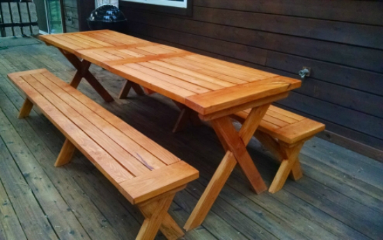 The Design Confidential Reader Showcase // Tahoe-Dude's Chesapeake Picnic Pable and Benches