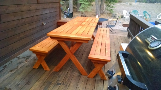 Opposite Side of The Design Confidential Reader Showcase // Tahoe-Dude's Chesapeake Picnic Pable and Benches