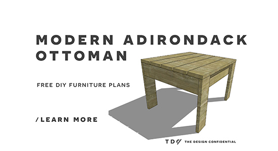 Modern Furniture Plans free woodworking plans to build a cb2 inspired sawyer adirondack