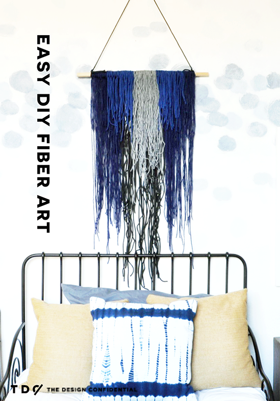 Easy DIY Fiber Art Wall Hanging