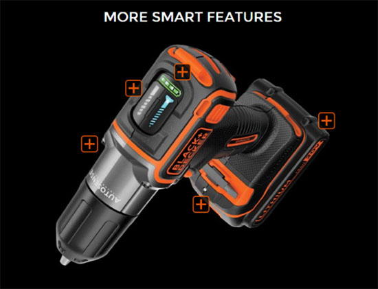 BLACK+DECKER 20V MAX* Lithium Cordless Drill/Driver with AutoSense Technology