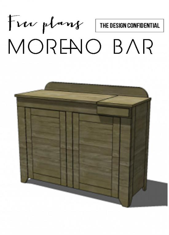 Free DIY Furniture Plans to Build a Moreno Bar - The Design Confidential