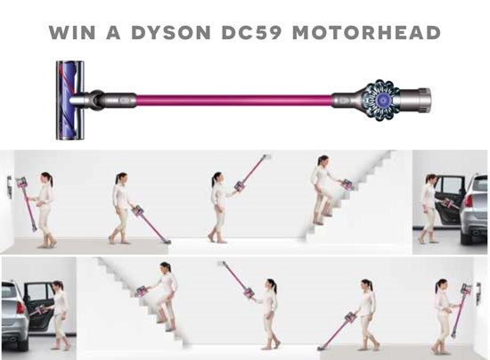 Dyson DC59 Motorhead Giveaway from The Design Confidential and Dream Home Tech Creature Comforts to make your Life Easier