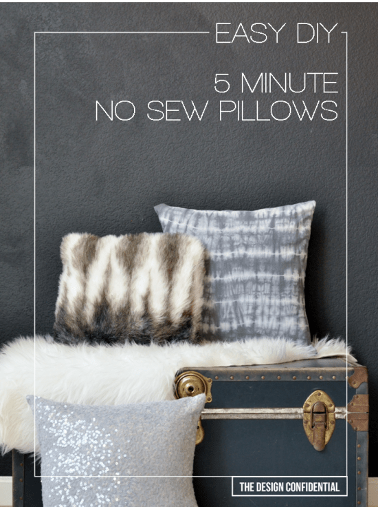 Making simple no-sew pillows is quite simply easy as pie and has become one of my favorite pastimes\u2026.that I do in the present\u2026 a lot. & Easy No Sew 5 Minute DIY Pillows - The Design Confidential pillowsntoast.com