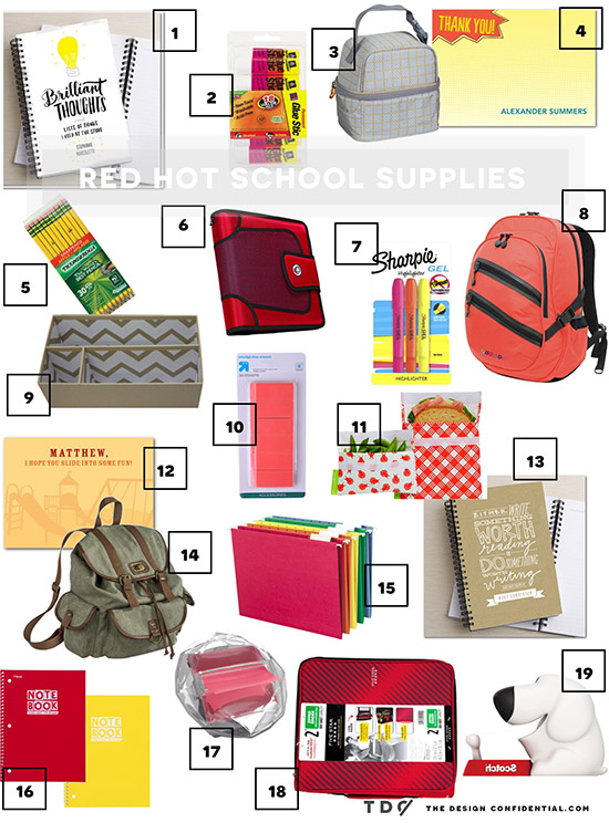 New Beginnings // Back to School + Red Hot School Supplies