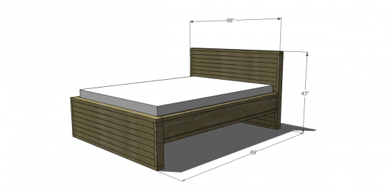 You Can Build This! Easy DIY Plans from The Design Confidential with Complete Instructions on How to Build a Queen Sized Rustic Slatted Bed via @thedesconf