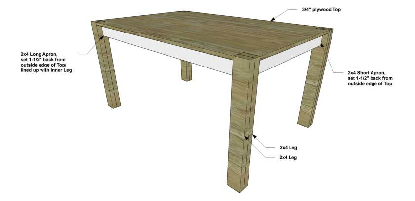 You Can Build This! Easy DIY Plans from The Design Confidential with Complete Instructions on How to Build an Rectangular Dining Table via @thedesconf
