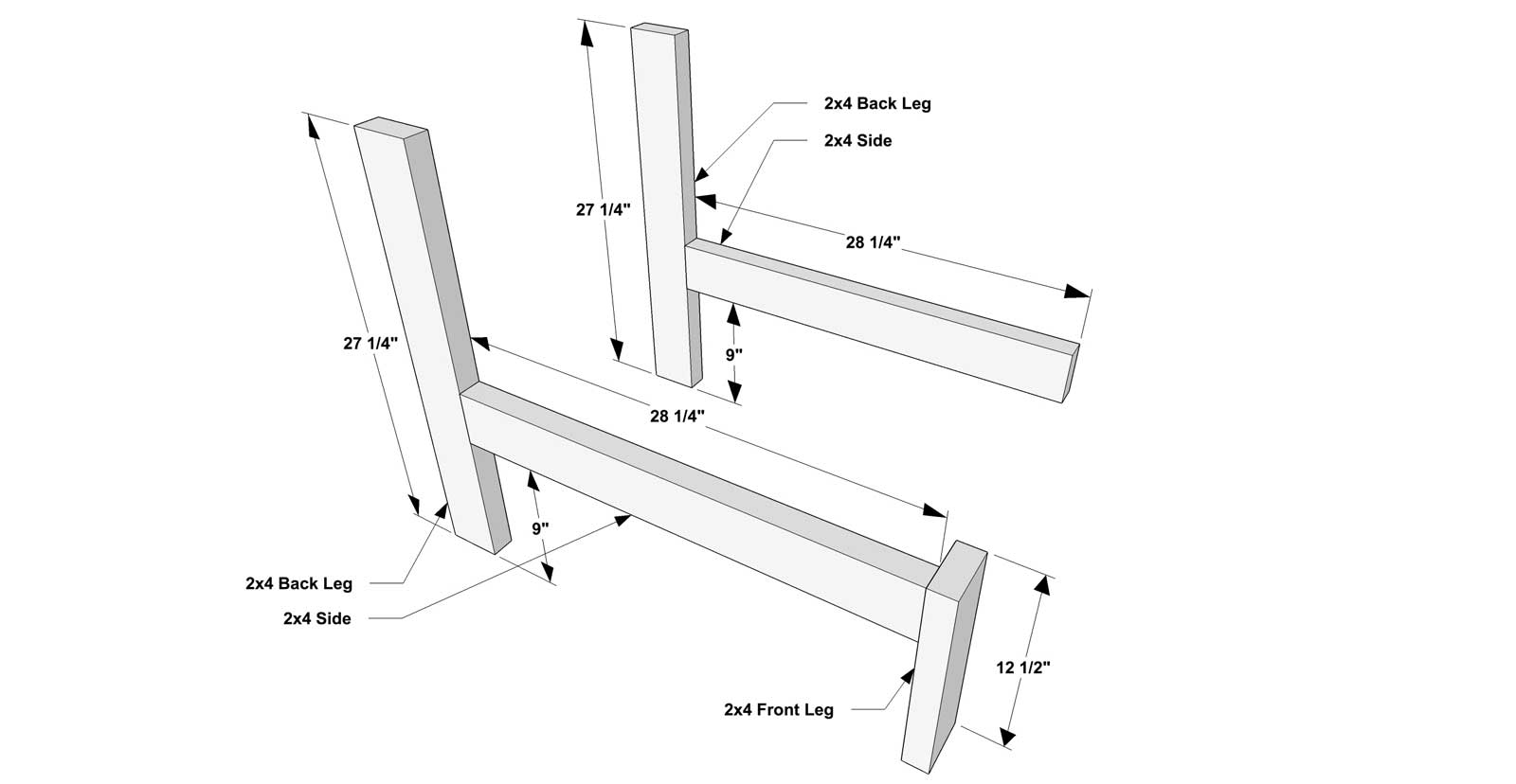 Free Diy Furniture Plans How To Build A Reef Sectional