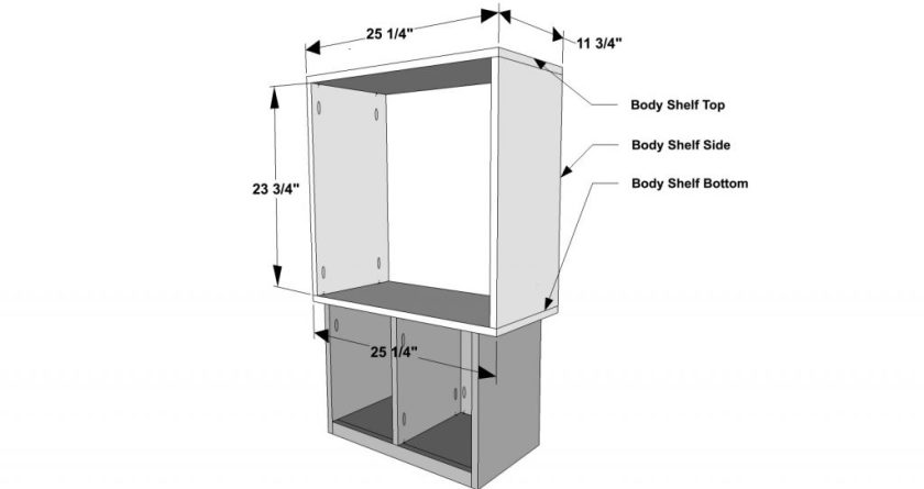You Can Build This! Easy DIY Plans from The Design Confidential Free DIY Furniture Plans // How to Build a Robot Bookshelf via @thedesconf