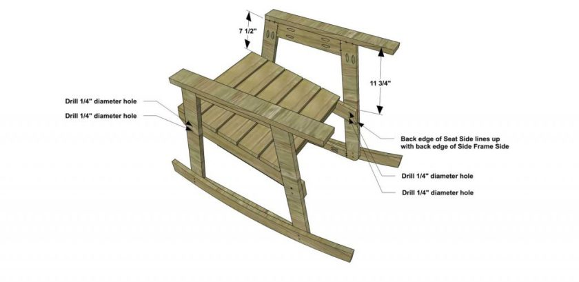 The Design Confidential Free DIY Furniture Plans How to Build a Rocking Chair