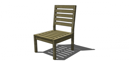 Free Diy Furniture Plans To Build A Rustic Outdoor Chair The