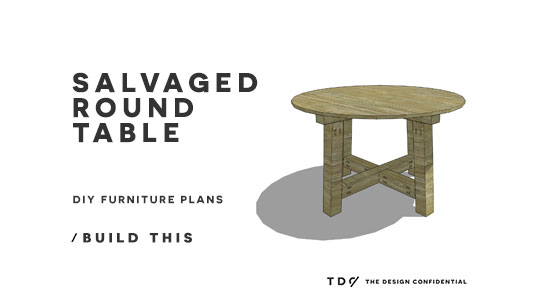 You Can Build This! The Design Confidential DIY Furniture Plans // How to Build a Salvaged Round Table
