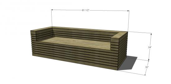Free DIY Furniture Plans: How to Build a Nova Outdoor Sofa ...