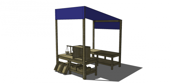 Free DIY Furniture Plans to Build a Market Playset